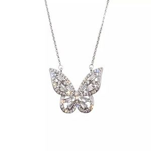 Baguette Butterfly Necklace